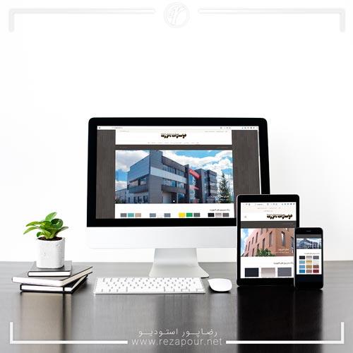 طراحی سایت شرکت مجری نمای ساختمان