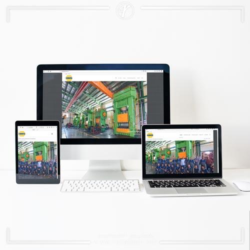 طراحی وبسایت پرس هیدرولیکی