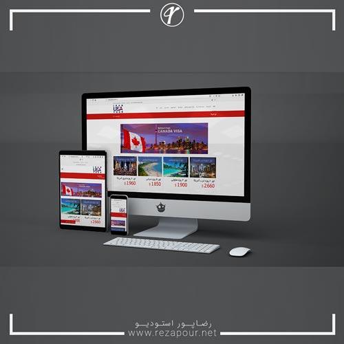 طراحی سایت تور آمریکا