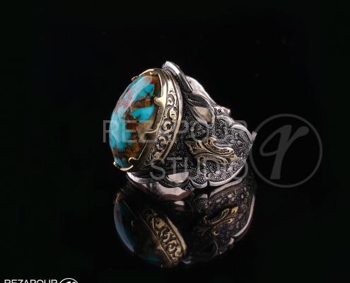 عکاسی تبلیغاتی از انگشتر فیروزه